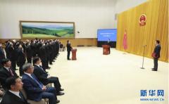 国务院举行宪法宣誓仪式 李克强总理监